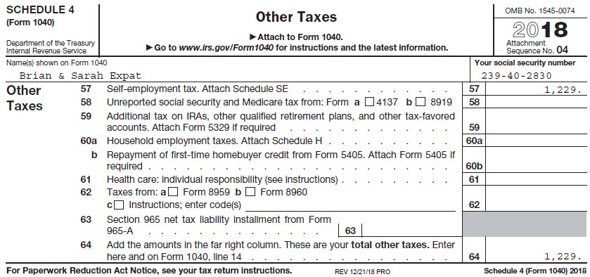 Completing Form 1040 The Face Of Your Tax Return Us Expat Taxes
